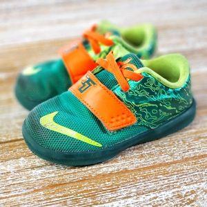 Nike KD Durant 7 Weatherman Green Kids Shoes 6 C